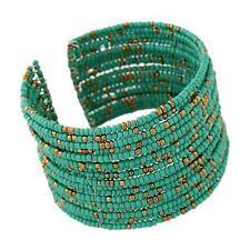 1pc Chic Women Fashion Bohemian Beads Beaded Bracelet Chain Open Design Green