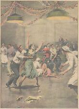 K0196 Ballerina impazzita dopo gara trenta giorni di danza - Stampa - 1931 print