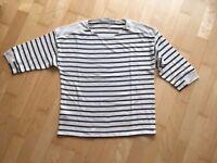 Pullover, Mango, schwarz-weiß-gestreift, Größe M, Damen