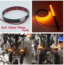 1 pair Motorcycle Fork Turn Signals Light Amber LED Strips for Clean Custom Look