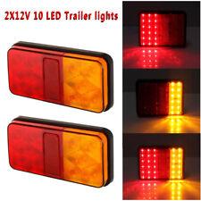 Pair 12V Rear Stop LED Lights Tail Brake Indicator Truck Van Lamp Trailer Light