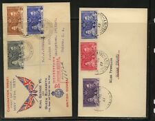 British Guiana & Gilbert Ellice 1937 coronation covers Ms0001