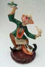 Fontanini Depose Vintage Resin Clown Waiter Figurine Made In Italy