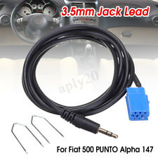 3.5mm Aux Jack Lead Cable Adapter & Radio Keys For Fiat 500 PUNTO Alpha 147