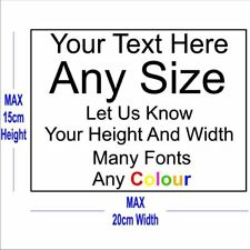 Custom Text Personalised Sticker Vinyl Decal Cars Windows Walls Laptop up to A5