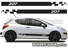 Peugeot 207 012 side racing stripes graphics stickers decals vinyl