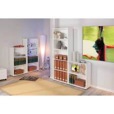 Grande étagère bibliothèque meuble rangement de salle de bain ou de bureau BLANC