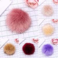 15cm Raccoon Fur Pompom Ball Fluffy Pompom Knitting Hat Pendant Bag Shoes DIY