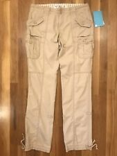 Women's Roxy Jimmy Pants With Tags Size 5 Cargo Adjustable Color Beige