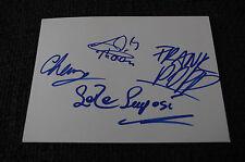 FRANK POPP ENSEMBLE signed Autogramme auf 10x15 cm Karteikarte InPerson RAR