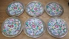 ancien service 6 assiettes porcelaine chine monture argent mark guangxu