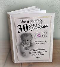"Personalised large luxury photo album, 300 6x4"" photos, 30th birthday present"