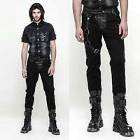 PUNK RAVE Destroyer Pants Gothic Hose Herren Schwarz mit Beinriemen Men Trousers