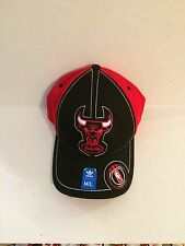 13e1b593e97 Chicago Bulls Adidas Hardwood Stretch Fit hat M L Black Red