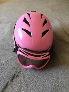 GIRO Pink Swirls Girls Helmet Small With Bolle Goggles!