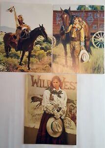 Girls Of American West Blank Cards by Terri Kelly Pawnee Bills Howdy 3 Western