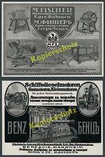 M.Fischer Eger Cheb Böhmen Landmaschinen Agrar Benz Schiffsmotoren Mannheim 1916