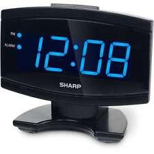 Digital Electric Alarm Clock Blue LED Large Display, Sharp, New, Free Shipping