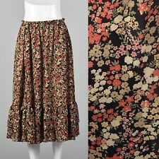 Medium Koos Van Den Akker 1990s Skirt Vintage Ruffle 90s Boho Peasant Floral VTG