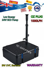 JEBAO 1000LPH ECO Pond Fountain Pump + Pond Filter + 9W UV Sterilizer ALL IN ONE
