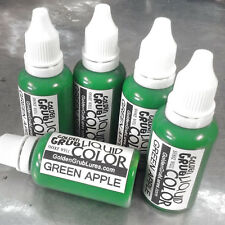 NEW 1 OZ. GREEN APPLE Liquid Color Fishing Plastic Soft Bait Lure Making Dye
