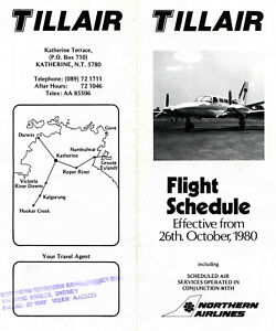 TILLAIR NORTHERN TERRITORY AUSTRALIA TIMETABLE