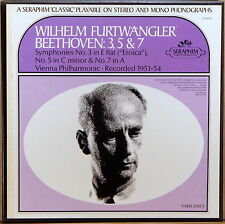 3 LP BOX SERAPHIM Beethoven FURTWANGLER Symphony #3, 5 & 7 1951-54 IC-6018