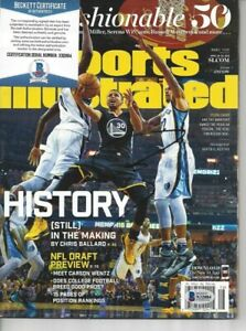 Stephen Curry Autographed Sports Illustrated Magazine Full 4/18/16 Beckett #3