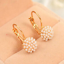 Korean Women Pearl Beads Ear Stud Earrings Fashion Wedding Party Jewelry Gift