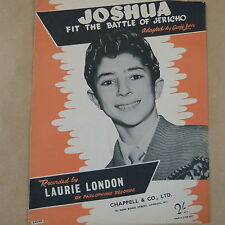 song sheet JOSHUA fit the battle of Jericho, Laurie London, 1958