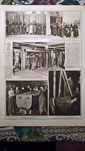 1921 Illustrierte 10 Schönwald Laurahütte Oberschlesien / Claridenstock Unglück