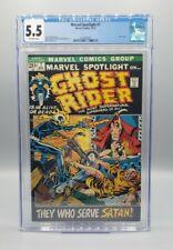 Marvel Spotlight #7 CGC 5.5. 3rd app Ghost Rider Johnny Blaze Marvel (1972)