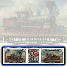 2019  TRANSCONTINENTAL RAILROAD  Strip of 3  Attached  USPS Forever® MINT Stamps