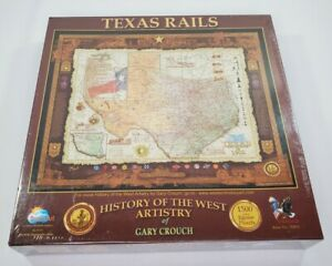 History Of Texas Rails Map Jigsaw Puzzle 1500 Sunsout Brand New