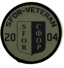 """SFOR-VETERAN""""Aufnäher""""Patch/Bundeswehr/Stabilisation Force/Einsatz-Veteran/Bosni"""