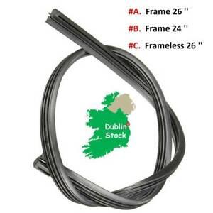 Universal Vehicle Windscreen Wiper Blade Refill 26'' 8MM / 24'' 6MM / Frameless