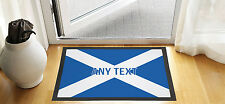 "24X16"" PERSONALISED SCOTTISH FLAG DESIGN ENTRANCE DOOR MAT NON SLIP ADVERTISING"
