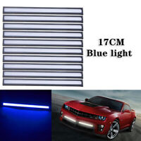 10PCS Blue 12V LED Strip DRL Daytime Running Lights Fog COB Car Lamp Day Driving