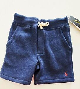 Polo Ralph Lauren Little Boys Cotton Blend Fleece Shorts Indigo Sz 4/4T - NWT