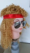 80's Rock Wig & glasses