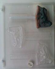 DINOSAUR VELOCIRAPTOR LOLLIPOP CLEAR PLASTIC CHOCOLATE CANDY MOLD AO062