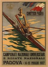 ROWING RACES, 1927 Italian vintage regatta Poster Canvas Print 20x28