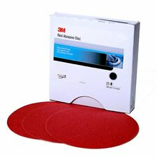 3M 1100 Red Abrasive Stikit Disk 8 inch P80D, 25 discs, PSA Sandpaper Abrasive