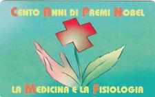 SCHEDA TELEFONICA NUOVA SAN MARINO PREMI NOBEL GOLDEN N. 77 MEDICINA CROCE ROSSA