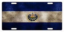 EL SALVADOR Flag Custom License Plate Salvadoran Emblem Dirty Version # 2
