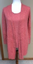 Eileen Fisher Pink Mauve Open Linen Sweater and Sleeveless Set Top/Tank sz PS