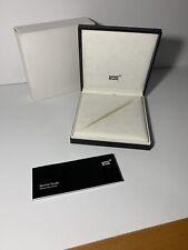 Mont Blanc Pen Box Case Writing Instrument
