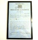 1863 GREAT BRITAIN INLAND REVENUE MEDICINE LICENSE CIVIL WAR ERA FRAMED ANTIQUE