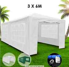 3x6m White Walled Waterproof Outdoor Gazebo Heavy Duty Polyester Carry Bag