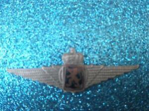 Vintage Rare WWII Belgian Air Force Non Commissioned Pilot Cap Lapel Pin